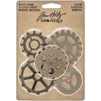 Tim Holtz - Idea-Ology Metal Gadget Gears, 5 kpl