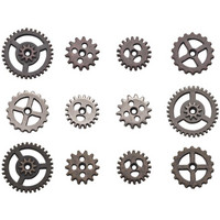 Tim Holtz - Idea-Ology Metal Mini Gears, 12 kpl