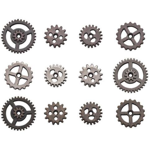 Tim Holtz - Idea-Ology Metal Mini Gears, 12 kpl