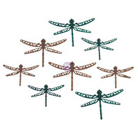 Prima Marketing - Mechanicals Metal Embellishments, Scrapyard Dragonflies, 8 osaa