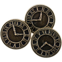 Blumenthal Steampunk Buttons - Antique Gold Clock, 8 osaa