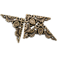 Blumenthal Steampunk Buttons - Antique Gold Corner, 15 osaa