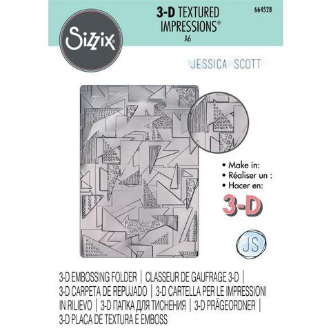Sizzix - 3D Textured Impressions By Jessica Scott, Kohokuviointitasku, Doodle Triangles