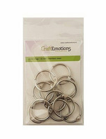 CraftEmotions - Click Rings, 32mm, 12 kpl