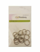 CraftEmotions - Click Rings, 19mm, 12 kpl