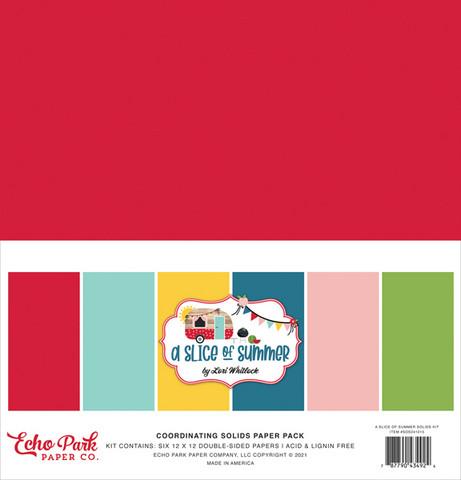 Echo Park - A Slice of Summer Solids Kit, 12