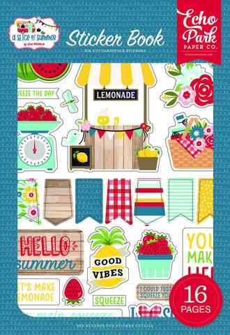 Echo Park - A Slice of Summer, Sticker Book, Tarrasetti