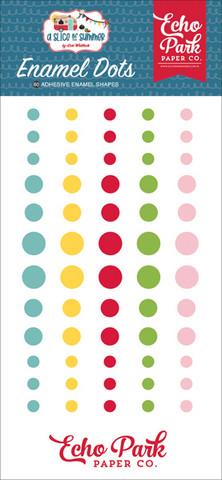 Echo Park - A Slice of Summer, Enamel Dots, 60 kpl