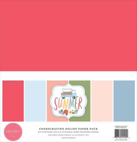 Carta Bella - Summer, Solids Kit 12