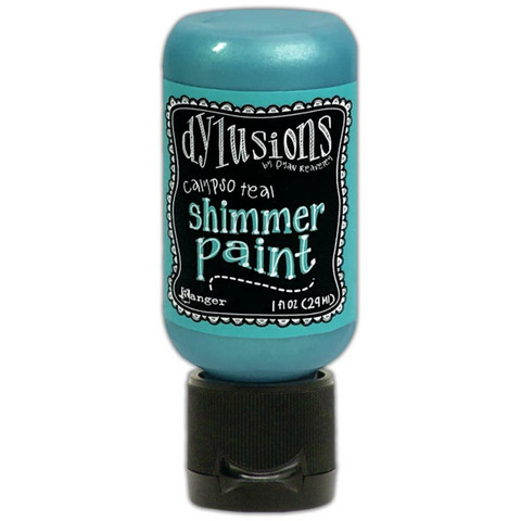 Dyan Reaveley - Dylusions Shimmer Acrylic Paint, Calypso Teal, 29ml