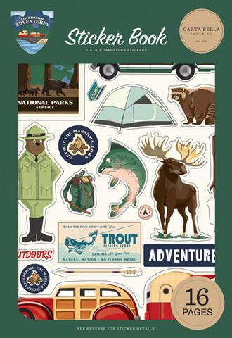 Carta Bella - Outdoor Adventures, Sticker Book, Tarrasetti