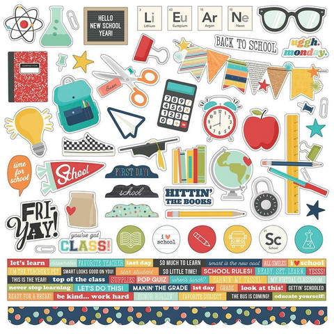 Simple Stories - School Life Cardstock Stickers, 12