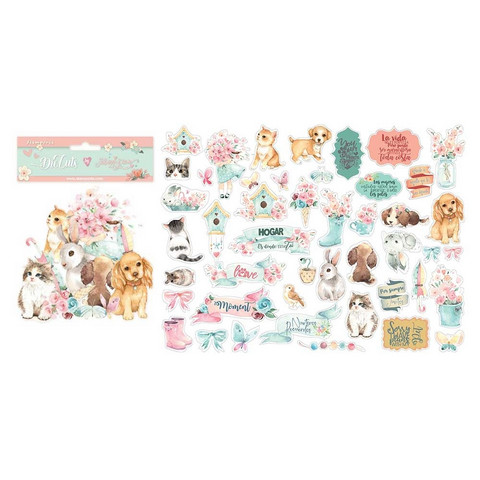 Stamperia - Circle of Love, Die Cuts, Cats, Dogs and Embellishments
