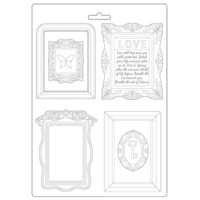 Stamperia - Soft Mould, Atelier, Muotti, A4, Frames