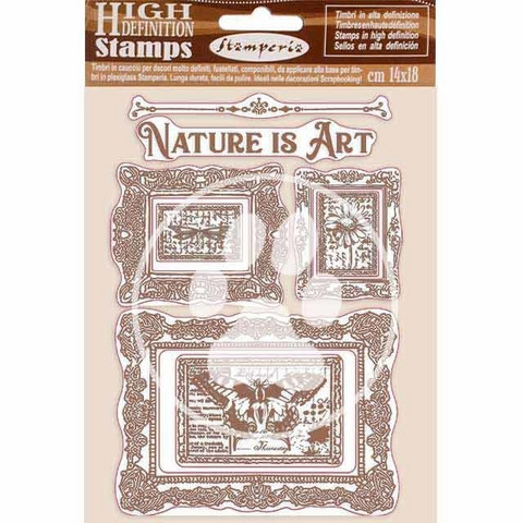 Stamperia - Natural Rubber Stamp, Leimasetti, Nature is Art Frames