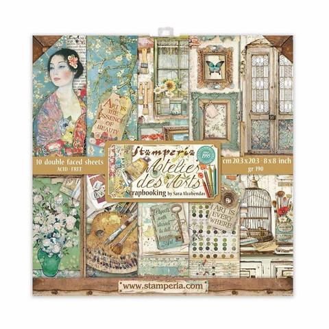 Stamperia - Atelier des Arts, Paper Pack 8