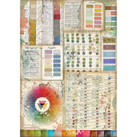 Stamperia - Atelier, Rice Paper, A4, Pantone Charts