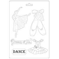 Stamperia - Passion, Soft Mould, Muotti, A4, Dancer