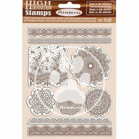 Stamperia - Passion, Natural Rubber Stamp, Leimasetti, Lace