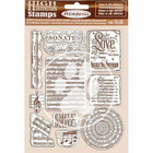 Stamperia - Passion, Natural Rubber Stamp, Leimasetti, Music