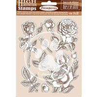 Stamperia - Passion, Natural Rubber Stamp, Leimasetti, Rose