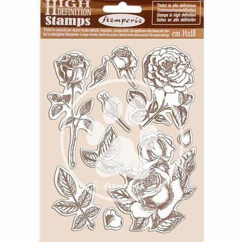 Stamperia - Passion, Natural Rubber Stamp, Leimasetti, Rose