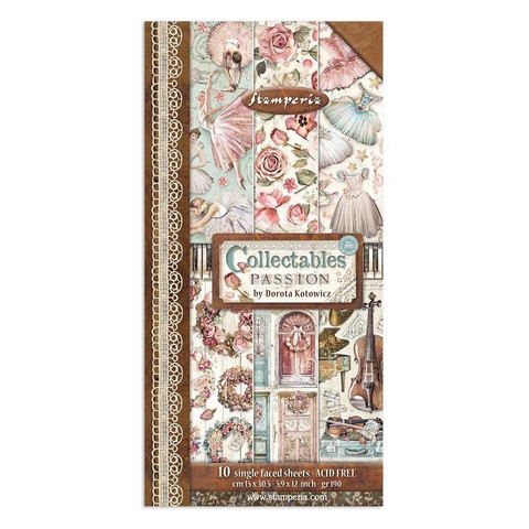 Stamperia - Passion, Paper Pack 6