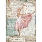 Stamperia - Passion, Rice Paper, A4, Dancer