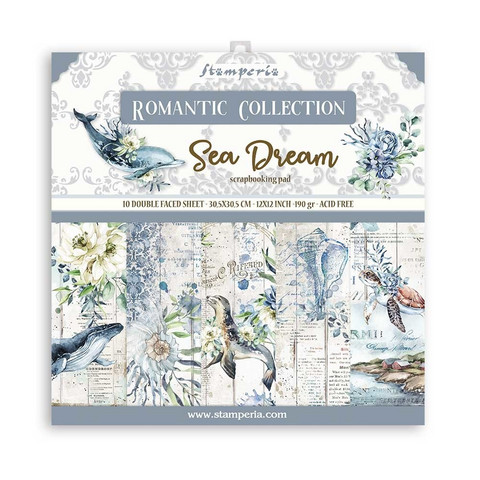 Stamperia - Romantic Sea Dream, Paper Pack 12