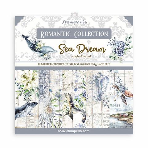 Stamperia - Romantic Sea Dream, Paper Pack 8