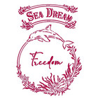 Stamperia - Romantic Sea Dream, Stencil A4, Freedom
