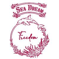 Stamperia - Romantic Sea Dream, Stencil A4, Freedom