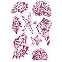 Stamperia - Romantic Sea Dream, Stencil A4, Shells