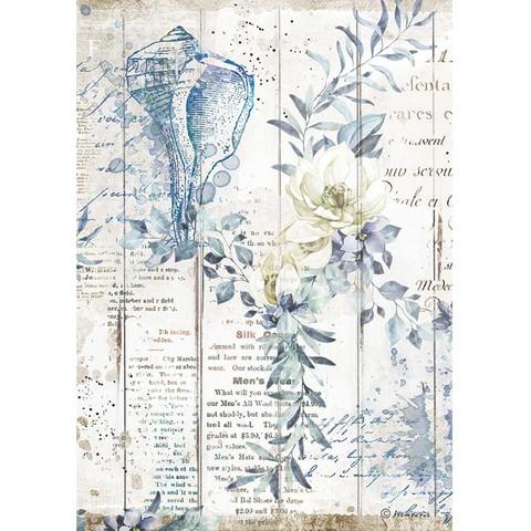 Stamperia - Romantic Sea Dream, Rice Paper, A4, Shells