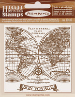 Stamperia - Voyages Fantastiques, Natural Rubber Stamp, Leimasetti
