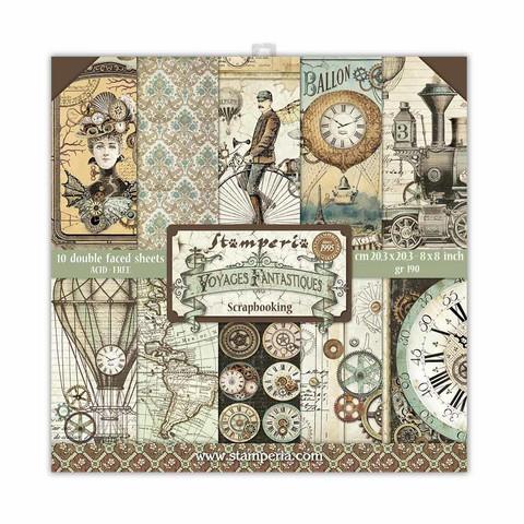 Stamperia - Voyages Fantastiques, Paper Pack 8