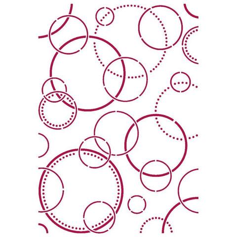 Stamperia - Romantic Threads, Stencil A4, Bubbles
