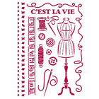 Stamperia - Romantic Threads, Stencil A4, Couture
