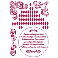 Stamperia - Romantic Threads, Stencil A4, Corners