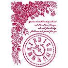 Stamperia - Romantic Journal, Stencil A4, Clock