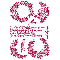 Stamperia - Romantic Journal, Stencil A4, Garlands Love