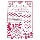 Stamperia - Romantic Journal, Stencil A4, Flower with Frame