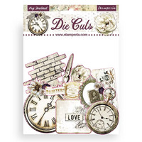 Stamperia - Romantic Journal, Die Cuts, 37osaa
