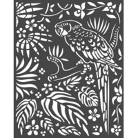 Stamperia - Amazonia, Stencil 20x25cm, Parrot