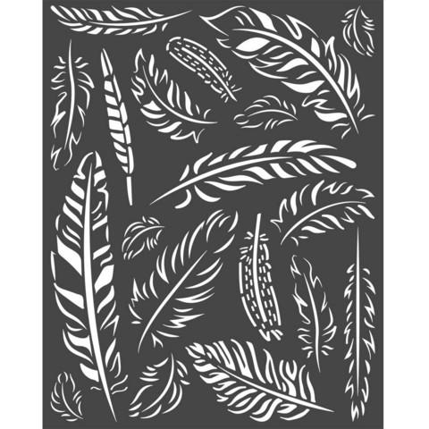 Stamperia - Amazonia, Stencil 20x25cm, Feathers