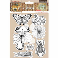 Stamperia - Amazonia, Rubber Stamp, Leimasetti, Butterfly