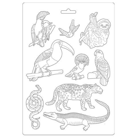 Stamperia - Amazonia, Soft Mould, Muotti, A4, Animals