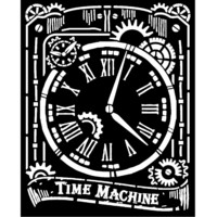 Stamperia - Voyages Fantastiques, Stencil 20x25cm, Clock