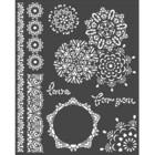 Stamperia - Passion, Stencil 20x25cm, Laces