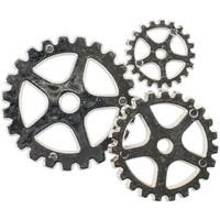 Blumenthal Steampunk Buttons - Silver Gear, 20 osaa